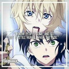 My heart was shattered in the first episode of owari no Seraph itself becuase Mike died in the first episode. I hate it how the second main character is mostly my favourite in everything. But after a few thousand episodes it was revealed that mika was alive, even better, an immortally hot and teen vampire forever....EEEEEEEKKKK! *nosebleed* Please excuse my exaggeration.