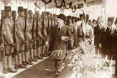 HM King Fouad I reviewing the Army, Circa 1920s