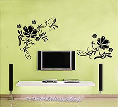 $4.50  - Good Life Modern Floral Wall DecalVinyl Art Wall Sticker Abstract Wall Decals Living Room Wall Decal Flowers Home Decor ** Click image to review more details. (This is an affiliate link) #WallStickersMurals