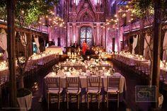 candles & twinkle lights wedding