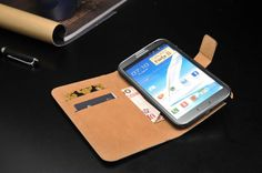 Cover for Samsung Galaxy Note 3 Real Leather Wallet Flip Leather Case Real Leather Wallet, Leather Case, Samsung Cases, Samsung Galaxy, Galaxy Note 3, Notes, Leather Pencil Case, Report Cards, Notebook