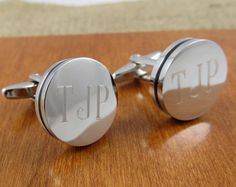 Personalized Cuff Links- Engraved - Monogrammed - Groomsman Gifts (797) on Etsy, $25.99