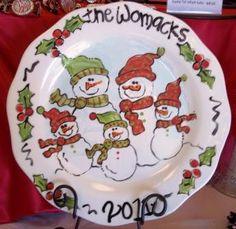 Snowman Family Platter