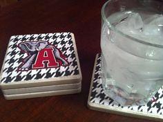 Alabama Crimson Tide Big AL coasters @etsy $14.50