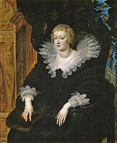 1622 Anne of Austria (1601–1666) by Peter Paul Rubens (1577-1640) Felipe III's daughter  married young Louis XIII (son of Marie de Medici)