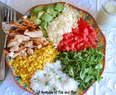 A Sprinkle of This and That: Lime Chicken Chopped Salad with Creamy Cilantro Lime Dressing