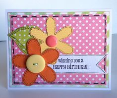 Doodling on Your Card by Kiwi Lane -  Wishing you a Happy Birthday Card