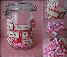 homemade valentine's day gift ideas girlfriend jar reasons love her