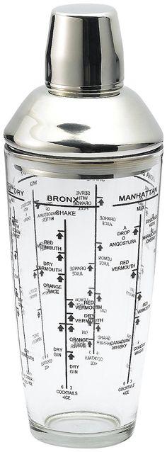 Bormioli Rocco Party Glass Shaker w/ Inox Lid | Free Shipping