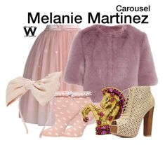 """""""Melanie Martinez"""" by wearwhatyouwatch ❤ liked on Polyvore featuring Chicwish, Shrimps, Dorothy Perkins, Seaman Schepps, Charlotte Russe, Johnny Loves Rosie, music, wearwhatyouwatch and musicvideo"""