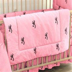 browning pink crib comforter