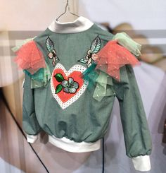 Customised and faded colour embroidery from Paade Mode at Playtime Paris for kids fashion spring/summer 2017
