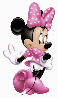 Minnie Mouse Iron On Transfer Pink Polka Dot Dress n Bow Both for White-Light and All Color Fabric Styles You Choose Very Easy to Apply Arte Do Mickey Mouse, Minnie Mouse Theme Party, Mickey Y Minnie, Pink Minnie, Minnie Birthday, Mickey Mouse And Friends, Disney Mickey, Disney Art, Cake Birthday