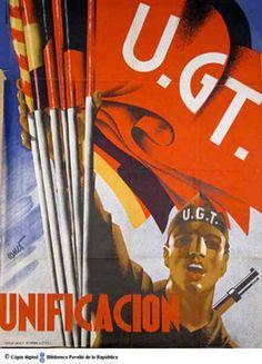 Unificación :: Cartells del Pavelló de la República (Universitat de Barcelona) Party Poster, Spanish, Barcelona, Abs, Posters, War, Self Esteem, Poster, Blanco Y Negro