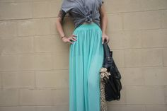 sheer turquoise & leopard