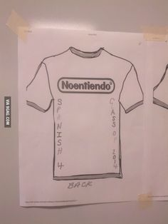 An idea for shirts in our Spanish class
