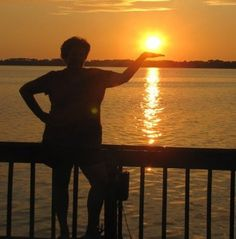 Mt. Dora 2011. I held the setting sun in the palm of my hand.