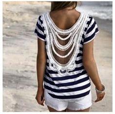 Sailors outfit Fashion Looks, Fashion Beauty, Womens Fashion, Diy Fashion, Mode Style, Style Me, Marine Style, Short Blanc, Mini Short