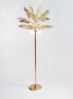 Syrette Lew palm lamp.