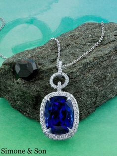 Magnificent tanzanite and diamond pendant we just made.