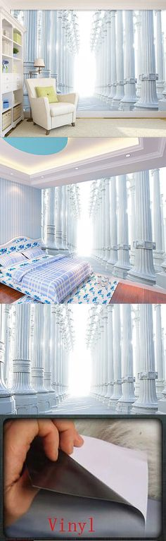 Other Wallpaper 52348: 3D Roman Column Wall Paper Print Decal Wall Deco Indoor Wall Murals Home -> BUY IT NOW ONLY: $269.99 on eBay!