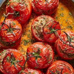 Tomato Dolma with Roasted Eggplant Kebab Recipes, Grilling Recipes, Cooking Recipes, Healthy Recipes, Healthy Meals, Yummy Recipes, Vegetarian Recipes, Healthy Food, Healthy Eating