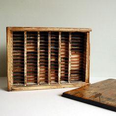Vintage Printer Box in Rustic Wood by calloohcallay, via Flickr