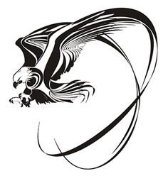 Eagle Tattoo Designs by tattoo design and tattoo ideas Tribal Eagle Tattoo, Eagle Feather Tattoos, Eagle Head Tattoo, Eagle Feathers, Eagle Tattoos, Tribal Tattoo Designs, Star Tattoos, Great Tattoos, Celtic Tattoos