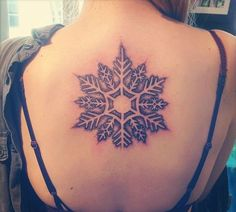 20 Simple and Beautiful Snowflake Tattoos