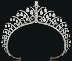 Art Deco tiara by Cartier, circa 1920's.
