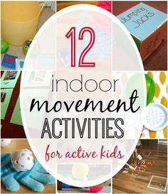 12 Indoor Movement Activities for Active Kids: 12 Indoor Movement Activities for Active Kids Physical Activities For Kids, Gross Motor Activities, Rainy Day Activities, Gross Motor Skills, Sensory Activities, Learning Activities, Preschool Activities, Elderly Activities, Dementia Activities