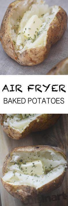 Air Fryer Baked Potatoes #AirFryer #potatoes Recipe Diaries