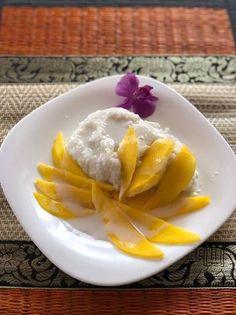 Ragacsos rizs mangóval (Mango with Sticky Rice) Cantaloupe, Mango, Rice, Fruit, Ethnic Recipes, Food, Manga, Essen, Meals