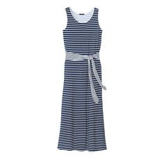 Style to the maxi. A striped maxi dress will keep you looking chic all summer long.FEATURES • Scoop neckline• Sleeveless • Wide sash at the waist • Maxi dress (long dress) • Straight hemlineMATERIALS • RayonCAREMachine wash, dry flat.Imported Business Casual Outfits For Work, Business Dresses, Summer Fashion Outfits, Work Fashion, Plus Fashion, King Outfit, Avon Fashion, Striped Maxi Dresses, Sleeveless Dresses