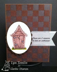 Outhouse digi stamp by Hambo Stamps - Designed by Lyn Tomlin (Inside says #1 and #2)