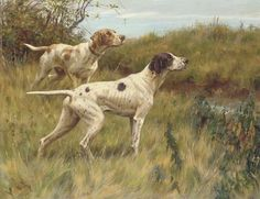Pointers on the Scent by Thomas Blinks (1853-1912)