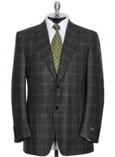 CHAPS Ralph Lauren Blazer 40 Brown Wool Houndstooth Sport Coat ...
