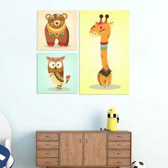 Παιδικοι πινακες σε καμβα :: Παιδικοί πίνακες Zoo Animals No3 Zoo Animals