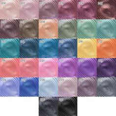 KIKO WATER EYESHADOW kikocosmetics.com in shades #201, 202,204,209,227,228,229
