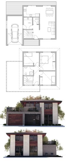 House Plans in Modern Architecture. Craftsman Style House Plans, Modern House Plans, Small House Plans, House Floor Plans, The Plan, How To Plan, Building Design, Building A House, House Layouts