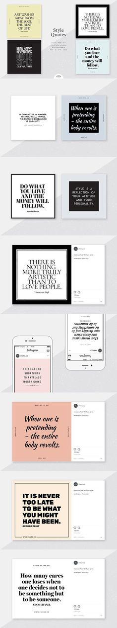 Style Quotes Social Media Kit. Social Media Templates