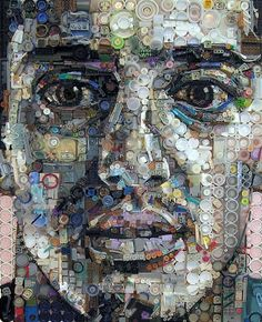 Faces from trash and found objects. Creativity at its finest!