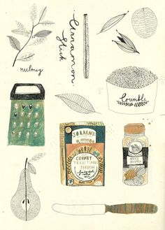 Illustrations for recipes and books. on Behance