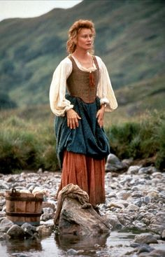 """Mary MacGregor (Jessica Lange) in """"Rob Roy"""" wearing period highland Scottish…"""