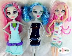 OOAK - handgefertigte Unikate von up4kids    Monster - Fashion Set 34  passend für Ankleidepuppen wie Monster High, Ever After High    Lieferumfang:  3