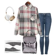 Grey Lapel Long Sleeve Plaid Pocket Blouse