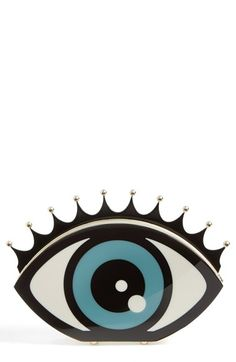Charlotte Olympia Eye Shaped Clutch available at #Nordstrom