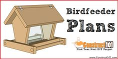 Free Woodworking Plans Build a Bird Feeder – Free Plans - Build a bird feeder with our simple plans. Bird feeder plans include illustrated drawings, measurements, and a parts list. Wood Bird Feeder, Bird Feeder Plans, Bird House Feeder, Bird Feeders, Bird House Plans Free, Bird House Kits, Wood Shop Projects, Diy Projects, Outdoor Projects