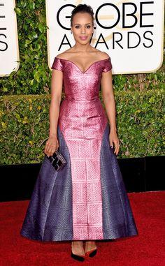 2015 Golden Globes Red Carpet Arrivals Kerry Washington, Golden Globes