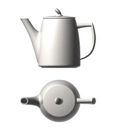 'Aroma' coffee pot with lid; Caffettiera c/coperchio, aroma